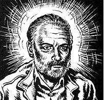 "Are we starting to ""bleed through"" into the dystopian plot of a Philip K Dick novel? This illustration is by R. Crumb, from his graphic novella rendition of ""The Religious Experience of Phillip K. Dick"""
