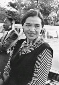 Rosa Parks refused to obey a bus driver's order to give up her seat for a white man.