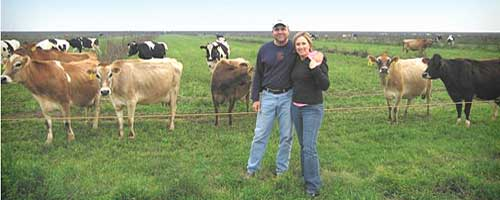 Mark McAfee of Organic Pastures with his wife, Blaine