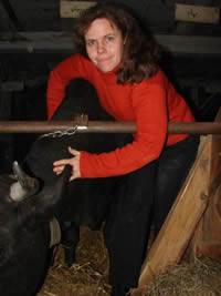 Anna's life is fulfilled by the devoted attentions of a loving cow share holder.