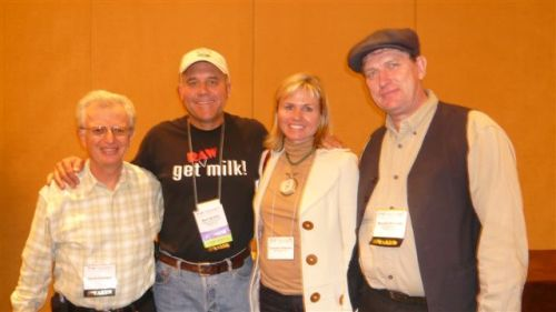 David E. Gumpert, with Mark, Christine, and Michael at the 2008 Weston A Price conference in San Francisco